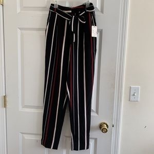 Forever21 stripe belted pants. NWT Never Worn